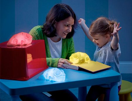 fun for the kids... very cool chameleon lamps