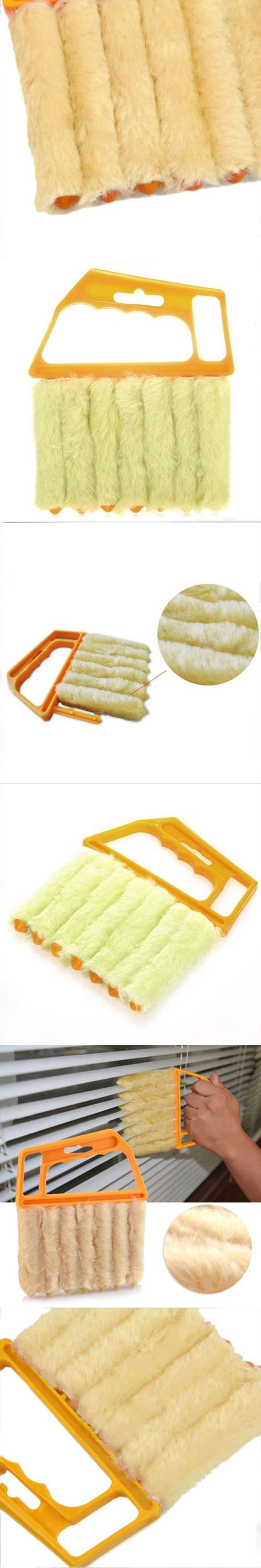 Microfibre Window Air Conditioner Venetian Blind Brush Duster Dirt Fine Cleaner #587