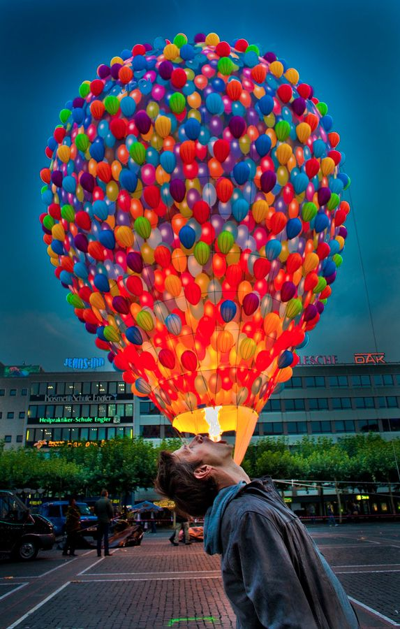 ~: Hot Air Balloon, Photo Beautiful, Balloon Flare, Hotair, Creative Color, Balloon Big, Fire Balloon, Interesting Photo, Photography Pretty