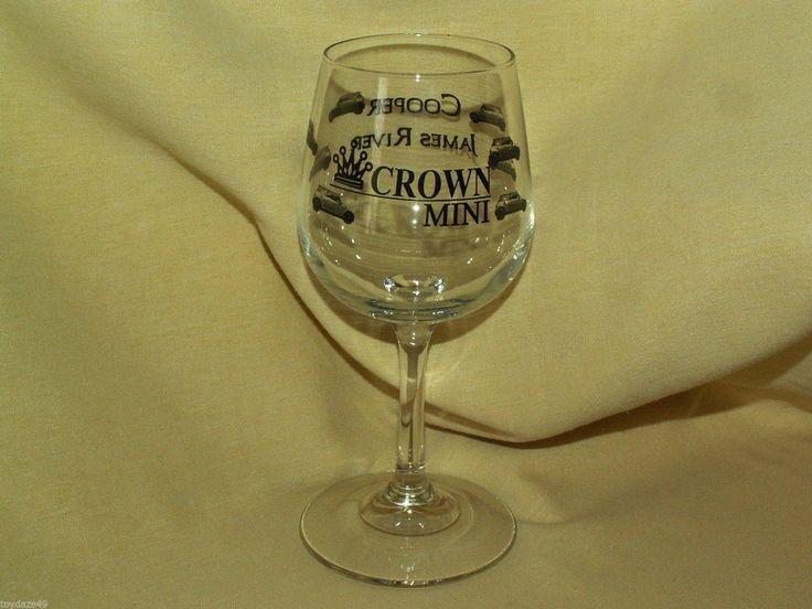 MINI COOPER GLASS WINE STEM JAMES RIVER CROWN MINI ADVERTISING DEALERSHIP BAR