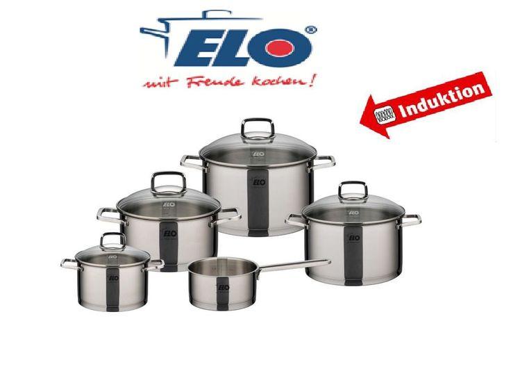 ELO Straightline 5tlg. Hochwertiges Induktion Edelstahl Kochtopfset Kochtopf Set in Möbel & Wohnen, Kochen & Genießen, Töpfe & Pfannen | eBay!
