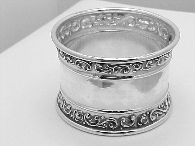 Repousse Sterling Napkin Ring $153.50