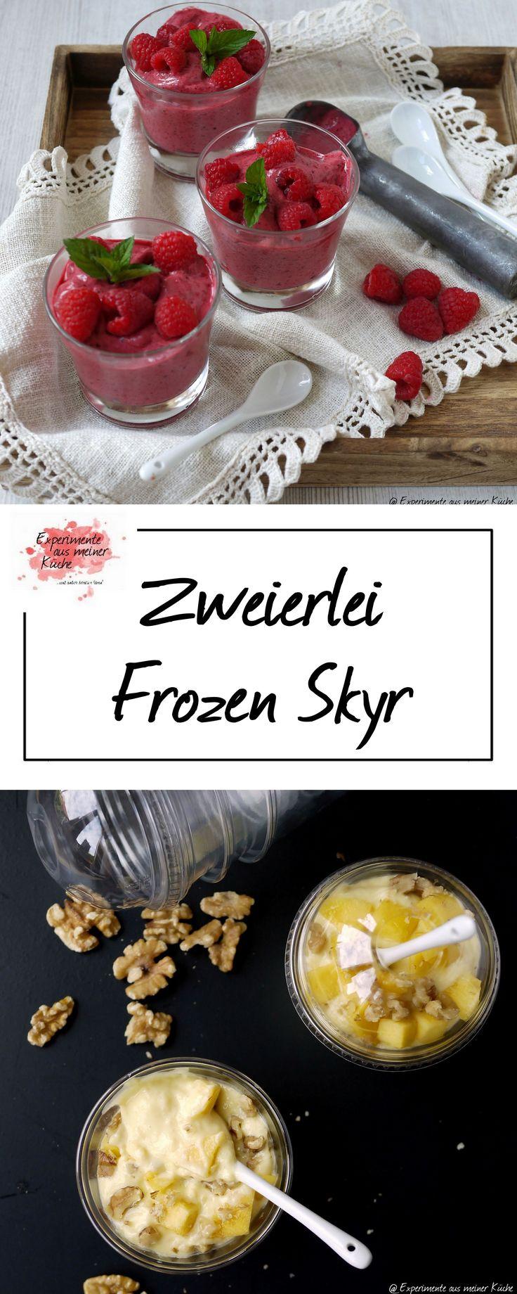 Zweierlei Frozen Skyr   Rezept   Eis