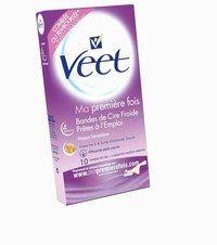 """Bandes de cire froide """"Ma première fois"""", Veet - Méthodes d'épilation - La première fois, c'est important. C'est pourquoi, les 10 bandes enrichies à la vitamine E et à l'huile d'amande douce sont spécialement conçues pour les peaux sensibles..."""