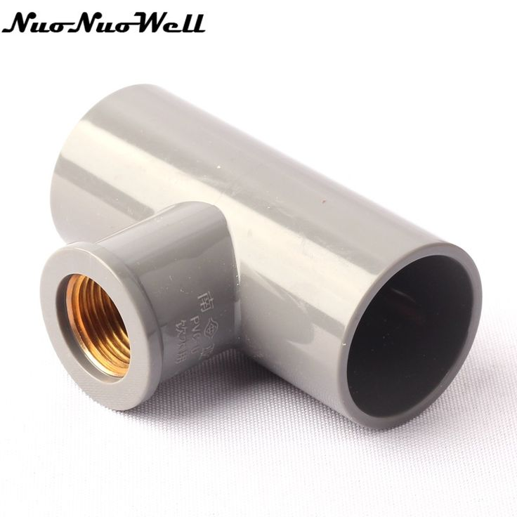 12 inch x 32mm female tee connectors copper thread fittings pvc new material garden