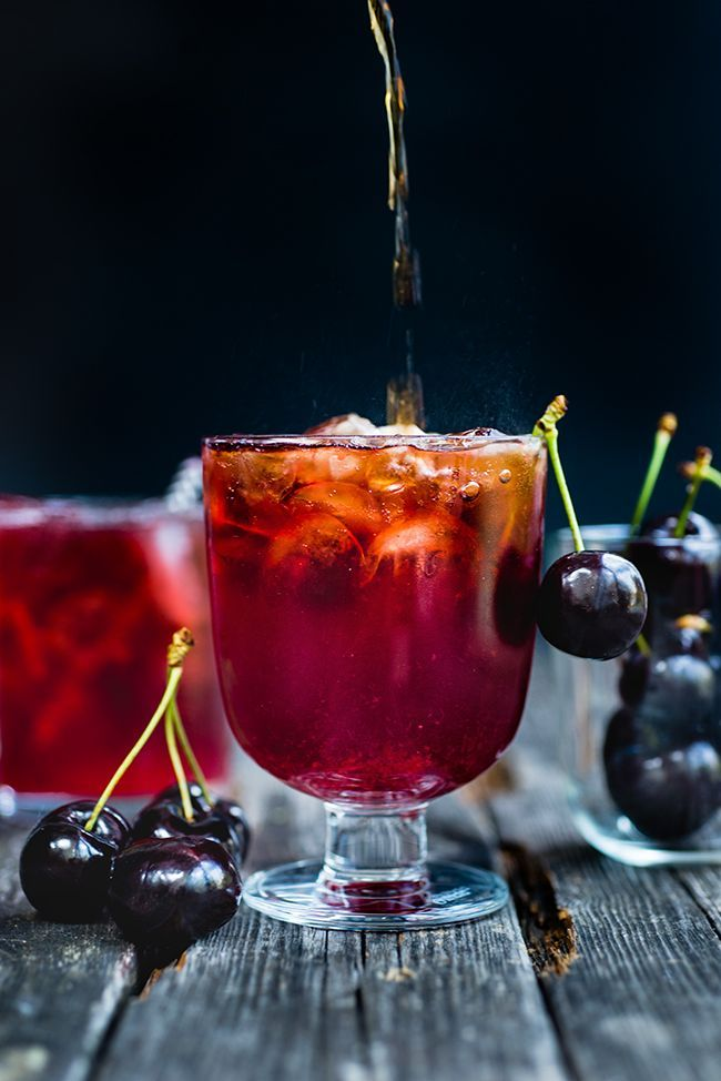 Cocktail Friday: Black Cherry Bourbon Cola Smash