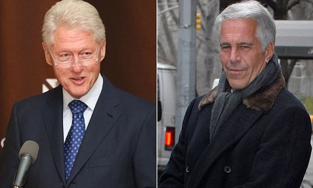 Bill Clinton identified in lawsuit against his former friend and pedophile Jeffrey Epstein who had 'regular' orgies at his Caribbean compound that the former president visited multiple times.