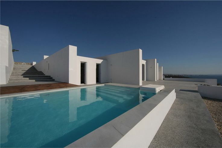 anixi-based react architects have completed 'the edge summer house' located in paros cyclades, greece