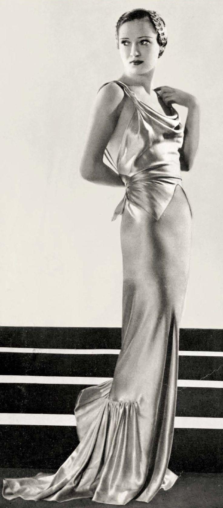 Evening dress by Elsa Schiaparelli | February 1936 | L'Officiel