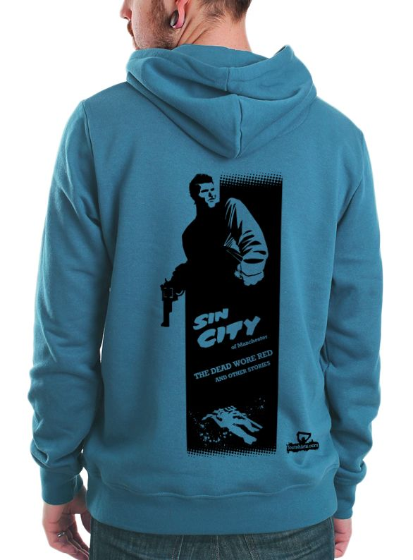 Kun Aguero's Sin City of Manchester #tshirt, #hoodie and #poster designed by