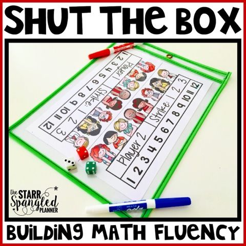 The Starr Spangled Planner: Shut The Box- Building Math Fluency