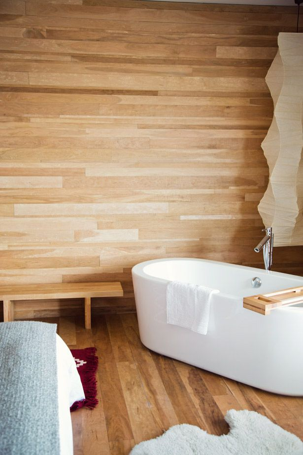dreams + jeans - Blog - destination:chile  sealed cedar backsplash & floor for shower/tub     vt