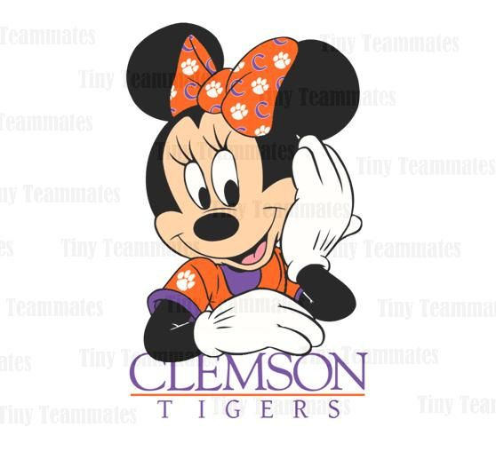Minnie's Favorite Team Clemson Tigers - DIGITAL FILE - Any Team Available Upon Request on Etsy, $5.00