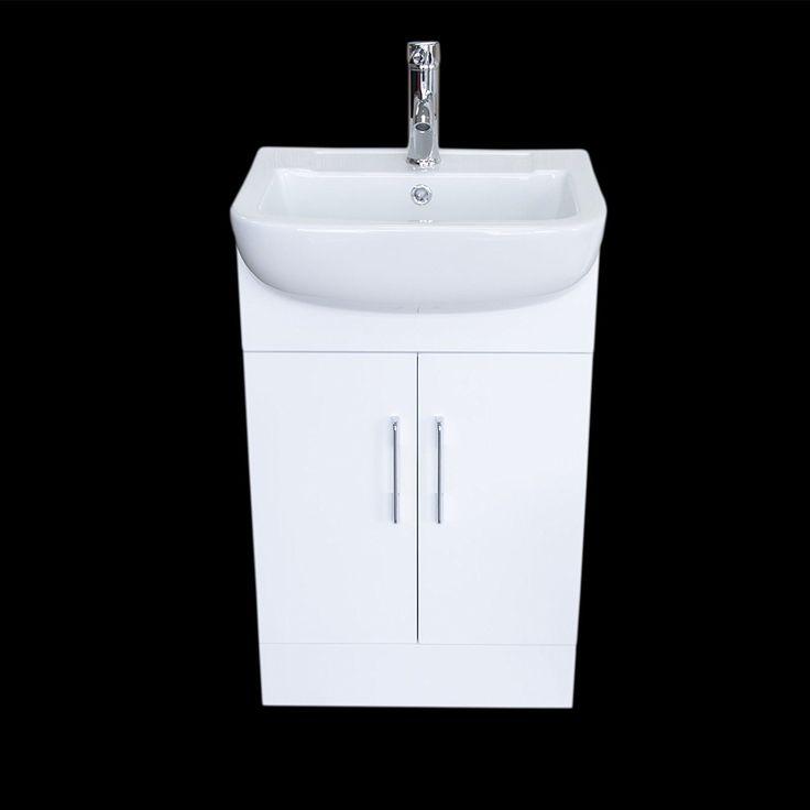 Bathroom Vanity Unit Cabinet Basin Sink Corner Cloakroom Floor standing Tap 500MM: Amazon.co.uk: Kitchen & Home