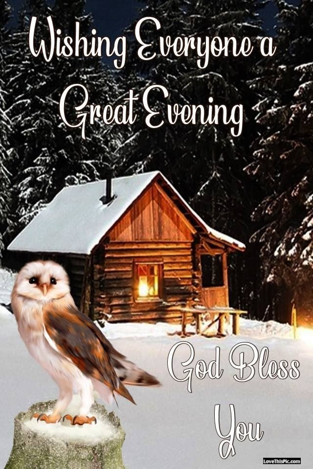 Evening Wishes God Bless owl good night god bless goodnight