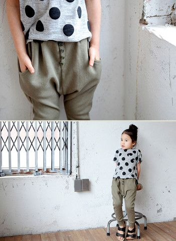 Everyday Slouchy Pants - 6 colors. Comfy, stylish pants for girls aged 1-6 at Color Me WHIMSY.
