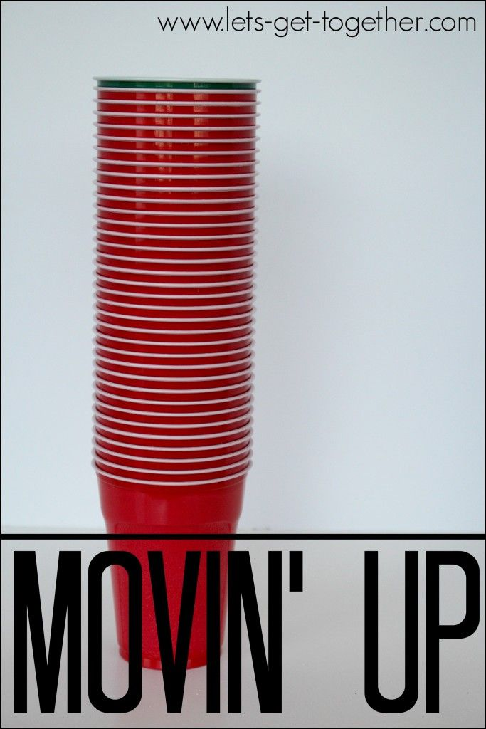Minute to Win It: Move the green cup through the stack of 39 red cups, til the green cup is back on the bottom and held in 1 hand within the 60 second time limit.