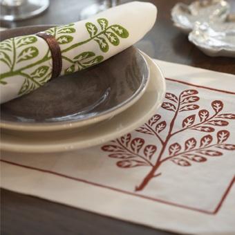 William Yeoward Aramie Placemats & Napkins - Embroidered Linen | Designers Guild UK