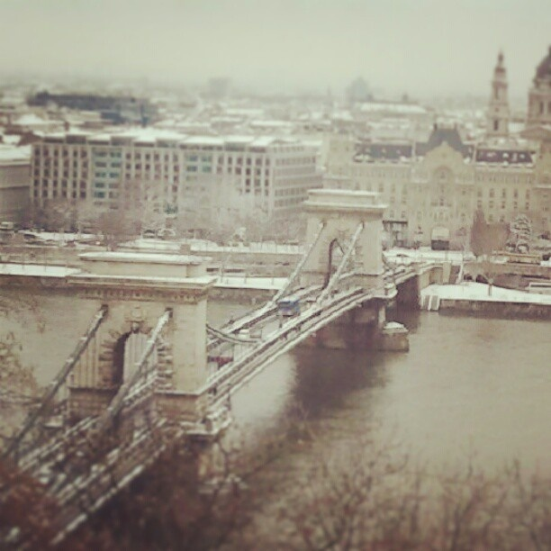 Budapest, winter in March