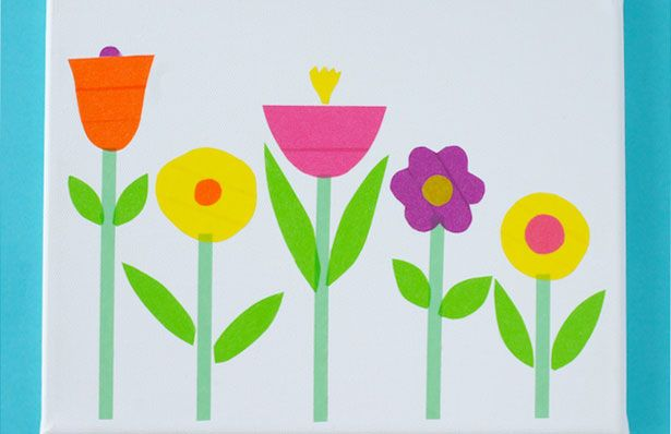 WASHI TAPE FLOWER ART
