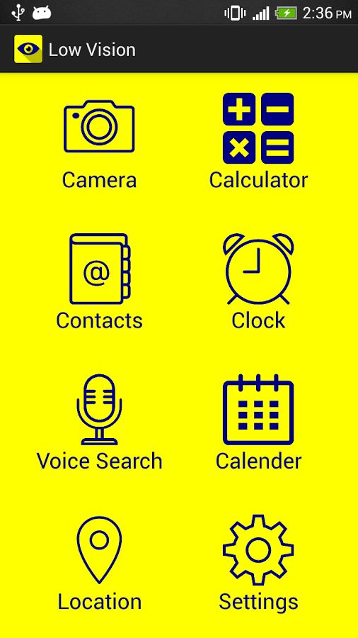 Stay active, #independent, and make life easier with low #vision #android app - https://play.google.com/store/apps/details?id=com.mobyi.lowvision