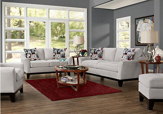 picture of Cindy Crawford Home Newport Cove Platinum 7 Pc Living Room from Living Room Sets Furniture