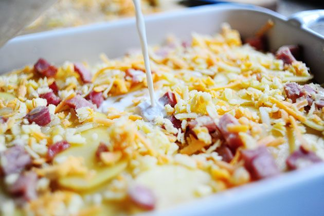 scalloped potatoes & ham from the pioneer woman