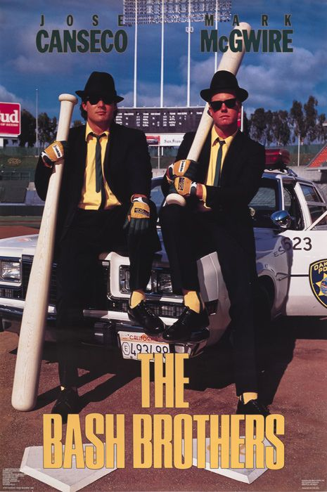 Mark McGwire and Jose Canseco- The Bash Brothers | Community Post: 20 Preposterous '80s Sports Posters