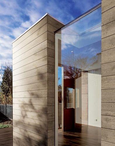 Revestimiento de fachada de gres porcel nico nature - Imitacion madera para fachadas ...