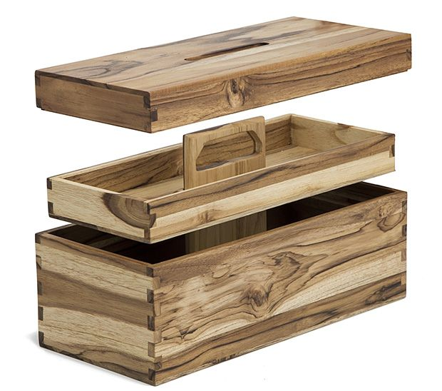 The Tropical Teak toolbox is handmade & hewn from 30-year-old sustainably harvested teak sourced from plantations in Nicaraqua