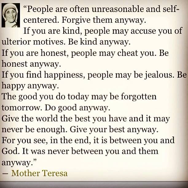 Mother Teresa Quotes People Are Often: Quotes & Notes 2 Live By