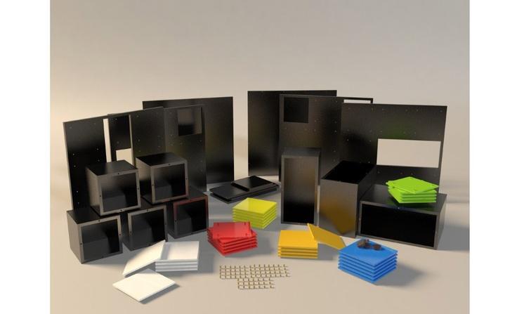 mesa/estante cubo mágico, por fábio teixeira