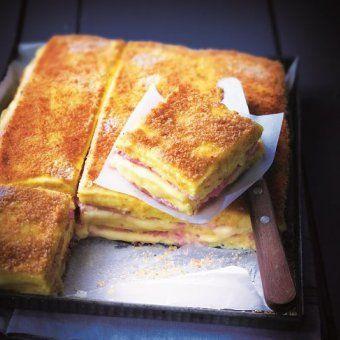 Croque-monsieur version polenta