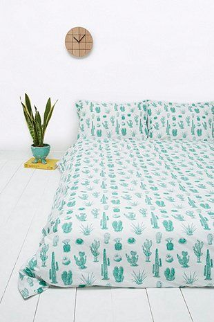 Gift for your teen or daughter at university. Cactus Print Duvet Set