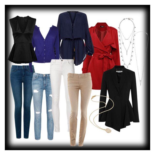 """The Inverted Triangle Figure's Wardrobe"" by desiresinstyle on Polyvore featuring moda, Lucky Brand, NYDJ, Givenchy, Current/Elliott, ViX, Cushnie Et Ochs, Eva Fehren, Ippolita e Armani Jeans"