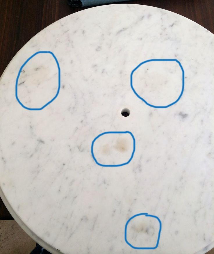 The Impatient Gardener: How to salvage a stained marble tabletop