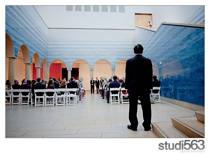 Lisa Hause Took This Emotional Photo Of Dad At The Base Blanton Museum Art Stairs Wedding Austin