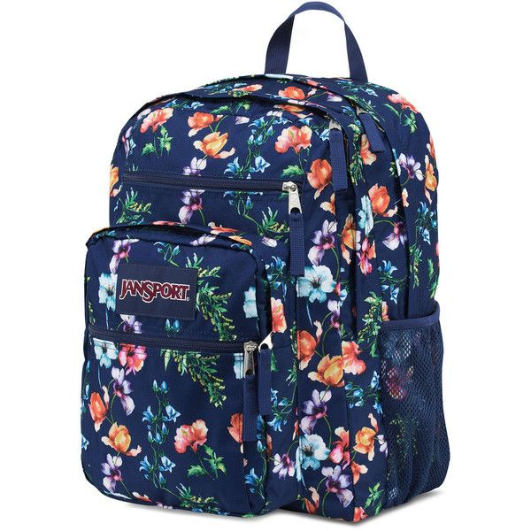 Jansport Big Student Backpack ($46) ❤ liked on Polyvore featuring bags, backpacks, padded backpack, blue backpack, padded bag, day pack backpack and jansport daypack