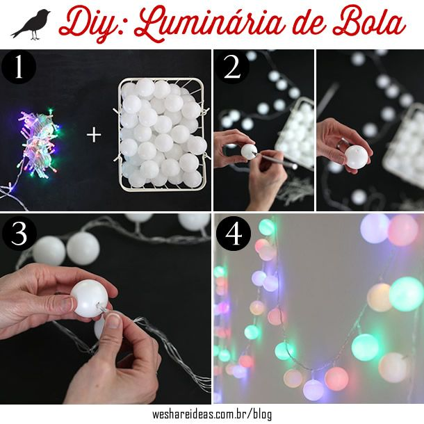 luminária de bolas ping-pong, como fazer luminárias, decoração festa, balls light