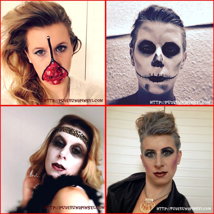 Puder und Pinsel Straubing: Halloween Make Up | Ideen #halloween #makeup #inspiration #kostüm #costume #kostümidee #horror #monster #reißverschluss #zipper #blut #blood #karneval #fasching #wunde #face #schminken #skelett #charleston #geist #ghost #arielle #disney #meerjungfrau #ursula #bösewicht