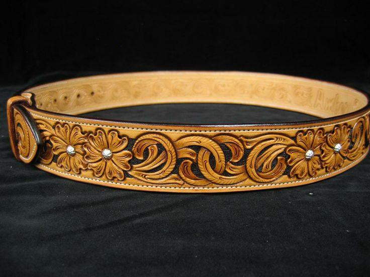 tooled leather belt belts leather