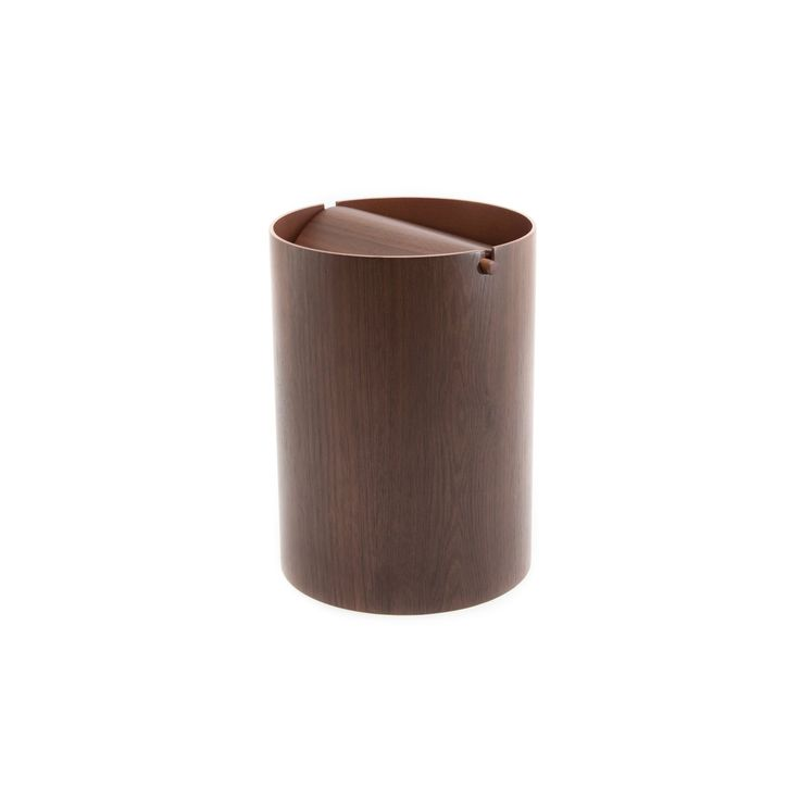 Waste Basket With Lid Small In 2020 Wood Waste Basket Wood