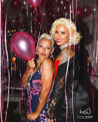 Welcome to Oghenemaga Otewu's Blog: Photos: Amber Rose and her beautiful mum at her bi...