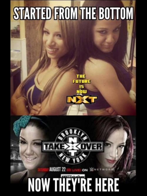 Sasha Banks and Bayley from NXT newbies to the top stars of NXT and WWE. So proud of these ladies