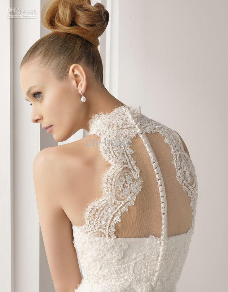 Lace back #wedding #dress