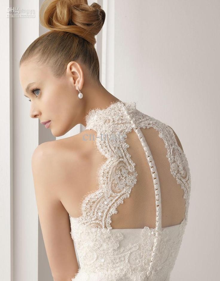Lace back #wedding #dress
