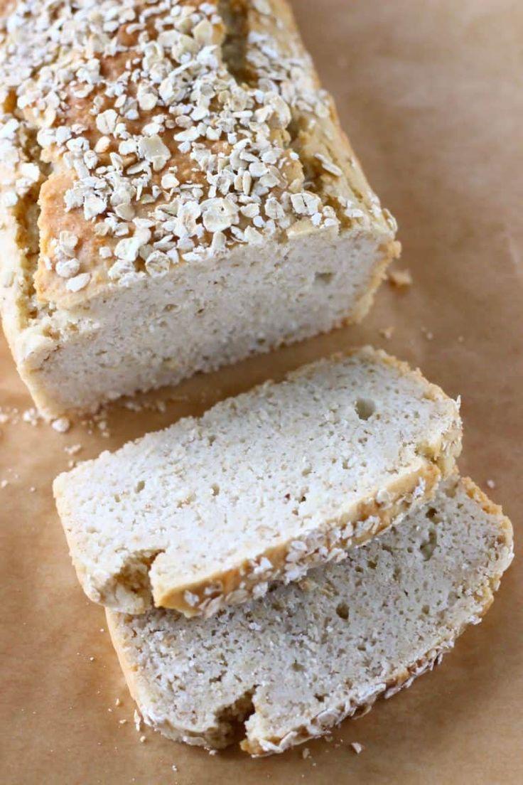 This GlutenFree Vegan Oat Bread is soft on the inside