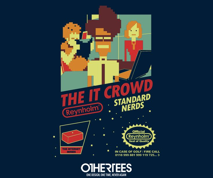 """Standard Nerds"" by Tom Trager T-shirts, Tank Tops, V-necks, Sweatshirts and Hoodies are on sale until February 27th at www.OtherTees.com #TheITCrowd #Nerd #Geek #OtherTees"