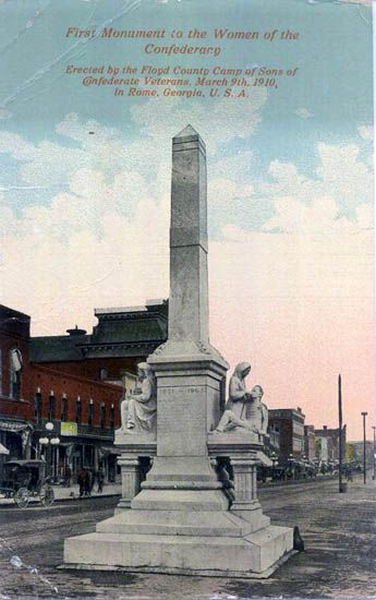 First Monument To The Women Of ConfederacyRome GA