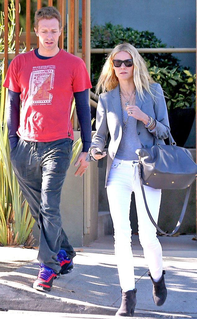 Holding Hands from Gwyneth Paltrow & Chris Martin's Romance Rewind